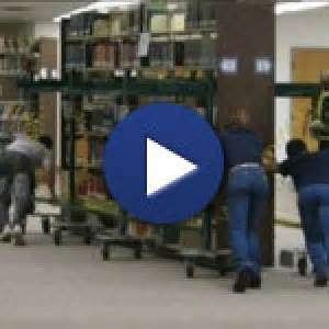 moving loaded library shelving relocation service move