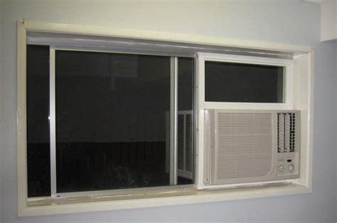 side  window ac unit install installing air conditioner  sliding window