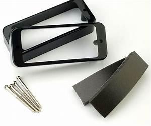 Mini Humbucker P90 Soapbar Adapter Rings Black
