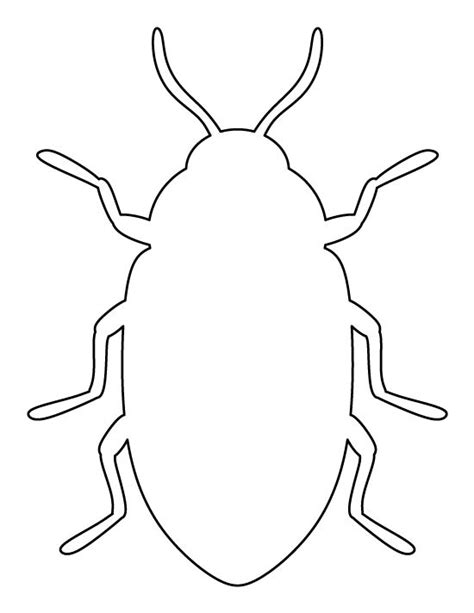bug template beetle pattern use the printable outline for crafts creating stencils scrapbooking and more