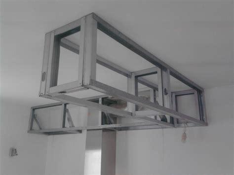 spot led encastrable meuble cuisine coffre en placo au plafond la hotte je souhaite et rail