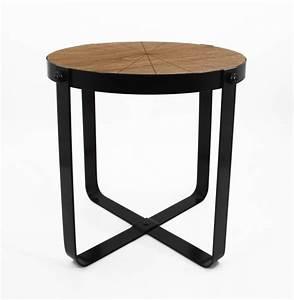 Holzplatte Rund 50 Cm : 77179 tisch l metall schwarz mit eingelassener holzplatte rund dh 53 50 cm ve 2 noor ~ Buech-reservation.com Haus und Dekorationen