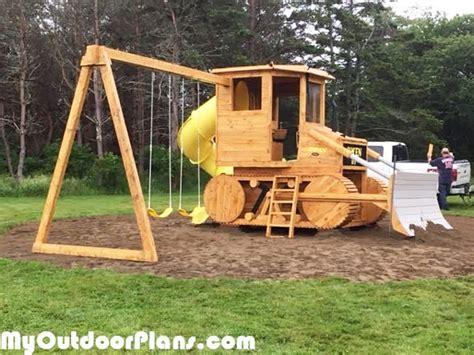 diy bulldozer playset myoutdoorplans  woodworking