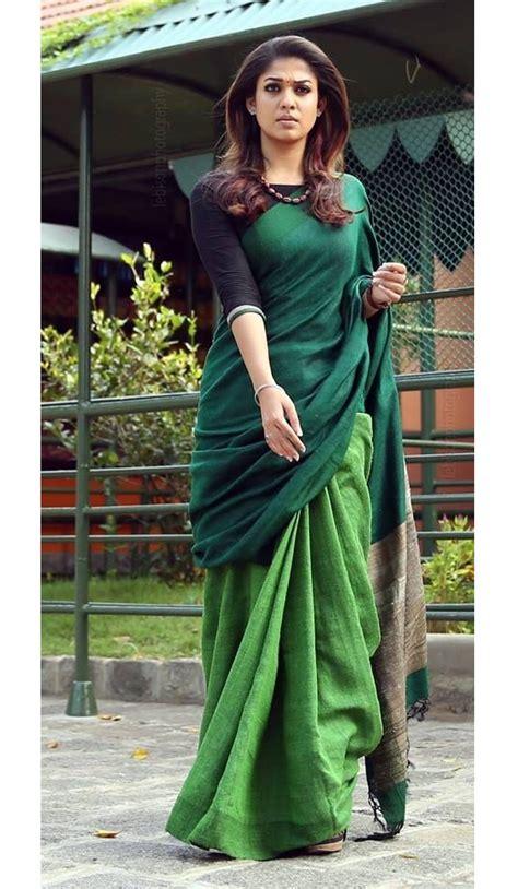 nayanthara linen sarees  shopping  paarijaatham