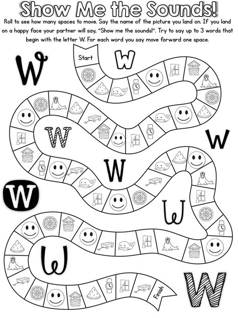 20 ready to print no prep games to practice the letter w alphabet pinterest