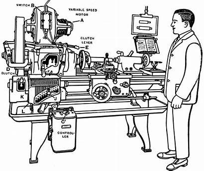 Lathe Clipart Motorized Engine Etc Tiff Resolution