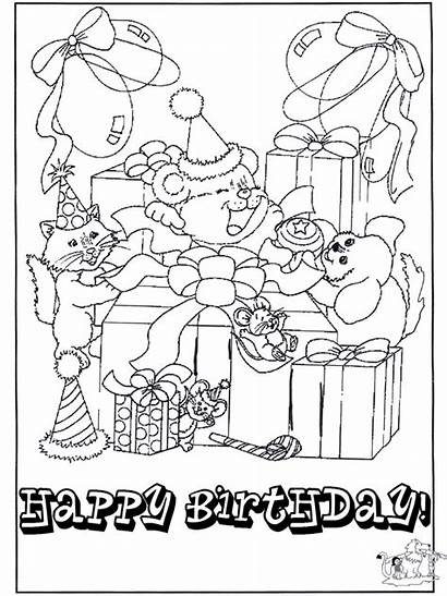Birthday Coloring Happy Pages Cards Card Printable