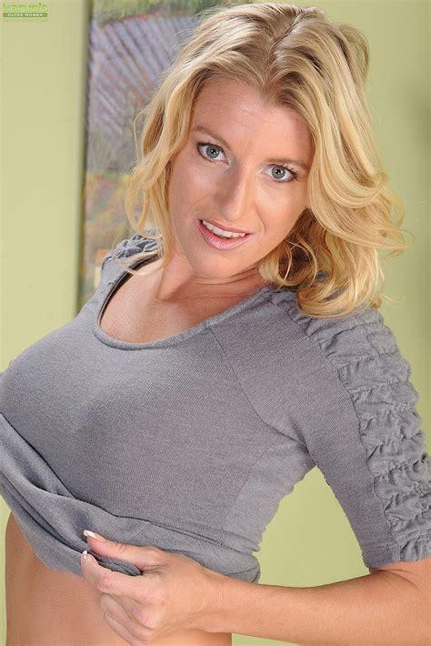 blonde avona dominica tease and undress milf fox