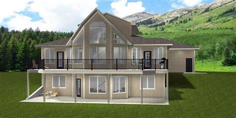 house plan    storey walkout  edesignsplansca triple oversize garage