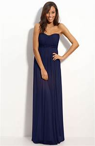 sexy strapless navy blue bridesmaid dresses cherry marry With navy blue dress for wedding