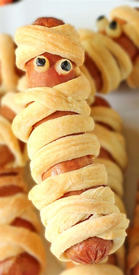 crescent roll mummy hot dogs recipe mummy hot dogs
