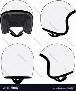 Motorcycle Helmet Template Royalty Free Vector Image