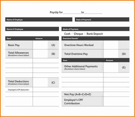 downloadable payslip template simple salary slip