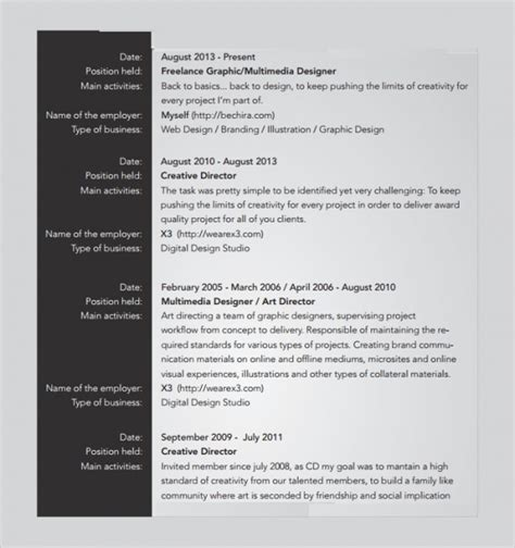 freelance resume templates sample templates