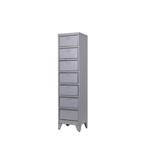 bureau gris metal dans meuble armoire 7 tiroirs grise marijke par drawer fr