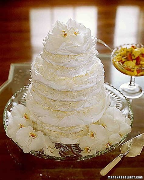meringue wedding cakes martha stewart weddings