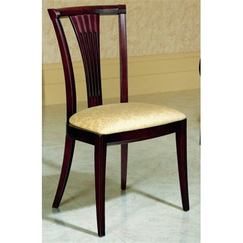 chaise salle 224 manger bois massif finition acajou assise