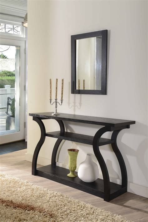 furniture  america nenna black display console table