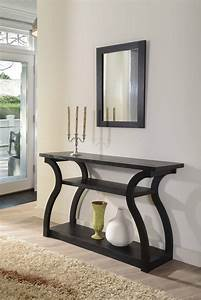 Furniture Of America Nenna Black Display Console Table