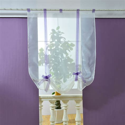 voile sheer curtains roller curtain kitchen bathroom tulle