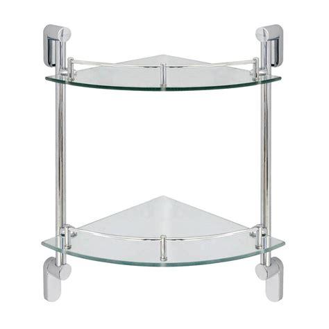 delta    glass double corner shelf  hand towel