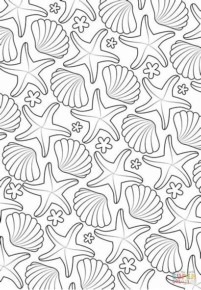 Coloring Pattern Sea Pages Printable Ausmalbilder Colouring