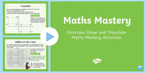 Year 6 Geometry Position And Direction Draw And Translate Maths Mastery