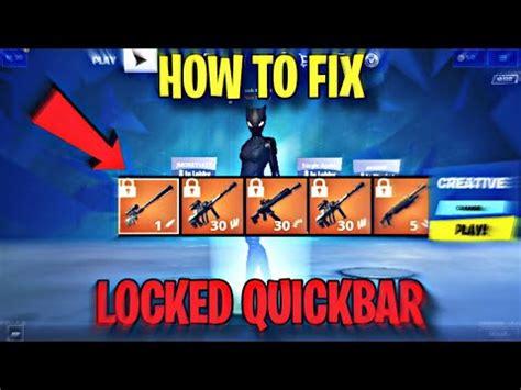 fix locked quickbar  fortnite mobile youtube
