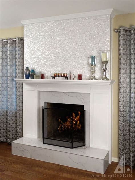 hand  mission styled painted wood fireplace mantel