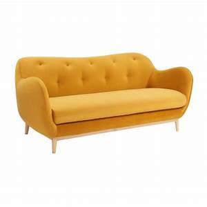 Sofa 3 2 1 Sitzer : melchior 3 sitzer sofa aus samt senfgelb design by adrien carv s habitat ~ Bigdaddyawards.com Haus und Dekorationen