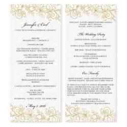 wedding program templates using microsoft word bernit bridal