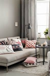 Rose Pink and Grey Living Room Ideas