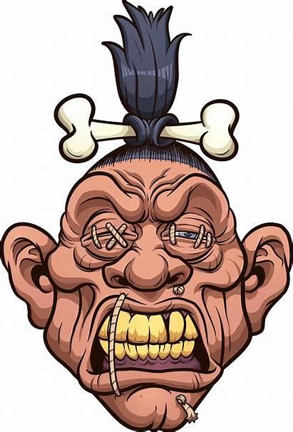 Shrunken Head Vector Cartoon Clipart Illustration Graphicriver