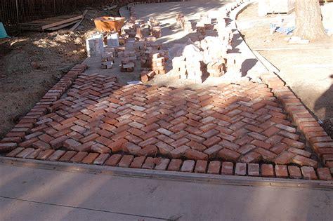 herringbone brick driveway flickr photo sharing