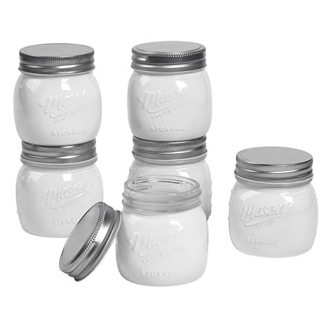 mason  pint oz opaque white jars  pack