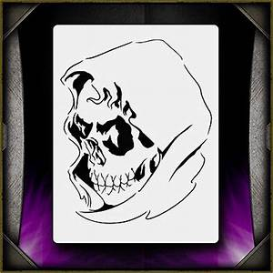 Grim Reaper 5 Airbrush Stencil Template Airsick | What's ...