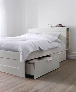 Ikea 140 Bett : ikea brimnes double bed with storage headboard and mattress in morden london gumtree ~ A.2002-acura-tl-radio.info Haus und Dekorationen