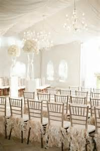 All White Wedding Ceremony Decoration