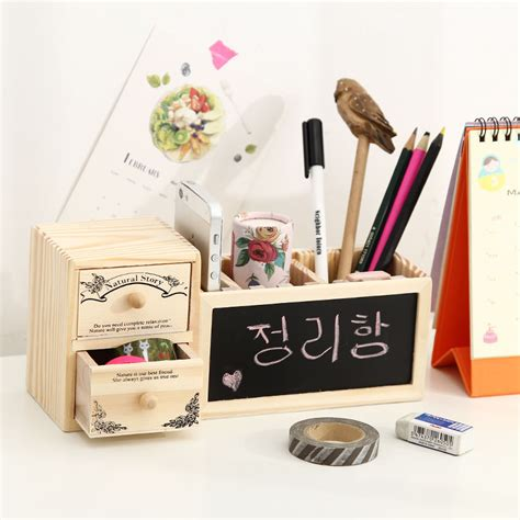 cute pen holder for desk wood wooden desk organizer cute desktop organizer pen