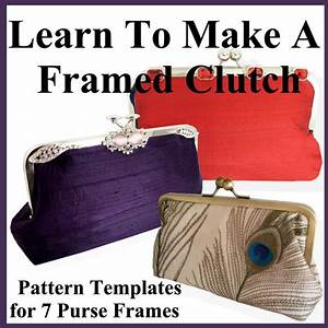 clutch purse pattern with templates for 7 purse by With clutch purse templates