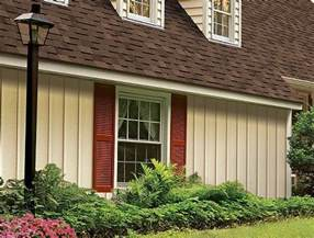 Houses with Board and Batten Vinyl Siding