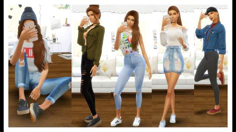 sims  outfits   week outfit ideas