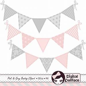 Grey And Pink Banner Clipart
