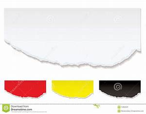 White Paper Torn Edge Stock Image - Image: 14852531