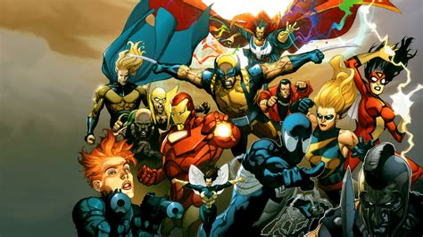 Heroes Of The Animated Wallpaper - marvel wallpapers hd