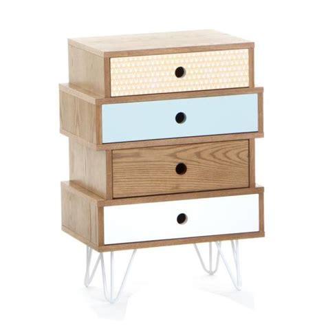 meuble chambre adulte meuble commode 4 tiroirs esprit scandinave coloris