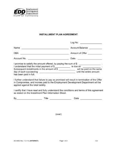 agreement letter  payment examples