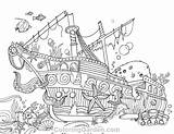 Coloring Ship Pages Sunken Adult Colouring Shipwreck Printable Coloringgarden Pdf Pirate Ships Sea Sheets Pirates Water Template Sketch Books Mermaid sketch template