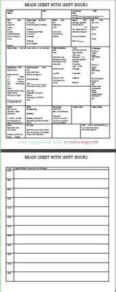 Med Surg Report Sheet Templates 1000 Ideas About Brain Sheet On Nurses Nursing Articles And