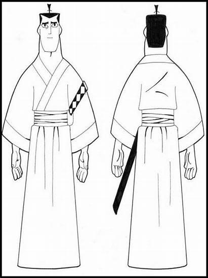 Samurai Coloring Jack Sheet Pages Character Printable